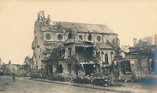 Guerre WW1 14-18 - Carte Photo  Ribécourt Église Maisons en  Ruine Oise - GV169