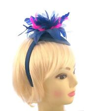 Royal Blue and cerise pink Hatinator cap with headband