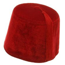 Deluxe Red Velvet Fez Hat Dr. Who Moroccan Aladdin Shriner Hat Size 59cm