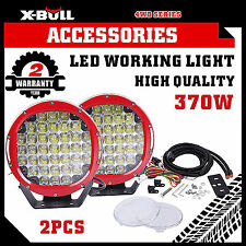 X-BULL 370W LED Driving Lights Offroad Spotlights DRL Replace HID Bar Red