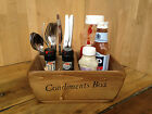 Condiment & Cutlery Holders box ~personalised size design logo ~catering baskets
