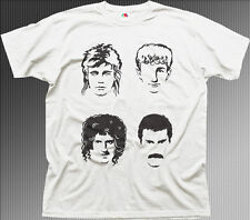 The Queen Freddie rock band music cd album white printed t-shirt HG01044