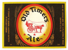 Cleveland Sandusky OLD TIMERS ALE beer label NY 12oz 3.2% - 7%  ABW