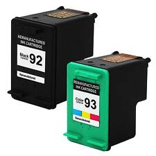 2 PK 92 93 Ink Cartridge Set For HP Photosmart C3135 C3140 C3150 C3180