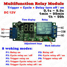 DC 12V LED Display Infinite Cycle Loop Delay Timer Switch ON/OFF Relay Module