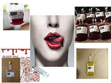 Halloween Sangre Vampiro Reutilizable Bebida Bolsa Bolsa Cosplay Accesorios