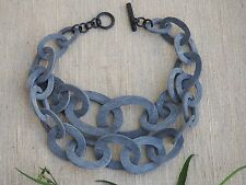 Horn Necklace Genuine Natural Horn Material Bib Multi Layers Double Chain H.N42