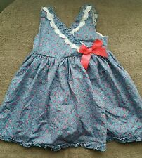 maggie zoe summer  dress with underwear blue flowers 12-18 months BNWOT