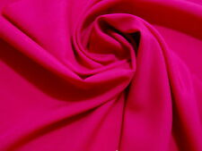 Stunning FUSCHIA FUCHSIA PINK Poly Silk-Like PONGEE or Lining Light Wt. Fabric