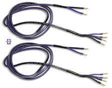 Analysis Plus Bi-Wire Clear Oval Speaker Cable Bi-Wired Stereo Pair 10ft