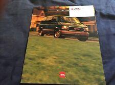 1996 GMC Safari Vans Color Brochure Catalog Prospekt
