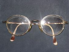 Vtg Distressed Gold Wire Round Oval Italy GA Georgio Armani Frame Eagle LOGO