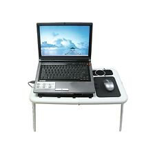 Foldable Laptop Table Tray Desk with Cooling Fan