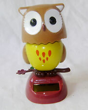 NEW SOLAR POWERED DANCING OWL DESK TOP CAR ETC ORNAMENT TOY TY3100