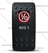 Labeled Contura II Rocker Switch Cover ONLY, ACC 1 (Red Window)