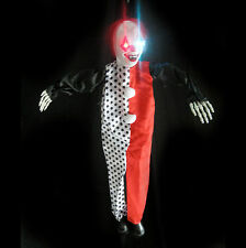 """Hanging Evil Clown Ghost Lighted Haunted House Halloween Prop 36"""""""