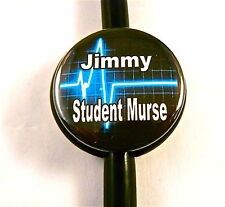 ID STETHOSCOPE NAME TAG STUDENT MURSE,HEART BEAT, ER,RN,PEDIATRIC,X-RAY TECH