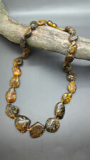 Beautiful Genuine Baltic Amber Necklace for Woman Green/Citrine