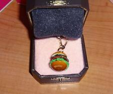 NEW JUICY COUTURE HAMBURGER CHARM FOR BRACELET NECKLACE BAG KEYCHAIN