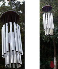 27 Tubes Outdoor Bells Tube Silver Church Wind Chimes Hanging Garden Decorations