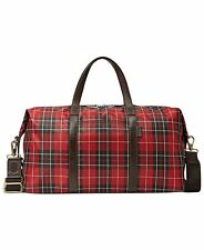 Fossil Atlas Duffle Bag - Carry On Cabin Duffel Bag - Red