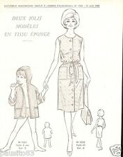 Patron de couture Femme d'Aujourd'hui 2 modèles en tissu éponge taille 40& 6 ans