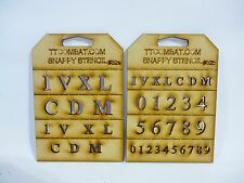 Wargames Imperial Marines Space Roman Numbers Stencils #32a/b