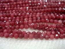 6mm Brazil Faceted Red Ruby Round Loose Beads Gemstone 15''