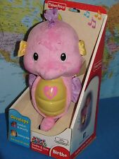 FISHER PRICE SOOTHE & GLOW PINK SEAHORSE OCEAN SOUNDS ***BRAND NEW***