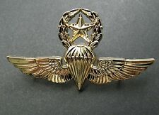 USMC USN NAVY MARINES PARA MASTER JUMP WINGS LAPEL PIN BADGE 2.75 INCHES