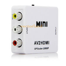 Mini Composite AV to HDMI Converter Video 720p 1080p Adapter UP Scaler AV2HDMI