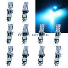 10x T5 Ice Blue 58 70 73 74 2721 Dashboard Gauge 3SMD LED Wedge Lamp Bulb Lights