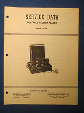 ROGERS MAJESTIC PHILIPS RC-13 PLAYER SERVICE MANUAL ORIGINAL FACTORY ISSUE