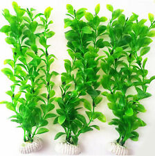 26cm Green Artificial Plastic Water Plant Grass for Fish Tank Aquarium