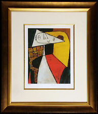 "Pablo Picasso ""Abstract Person"" Ltd Edition Estate Giclee Custom Framed w/CoA"