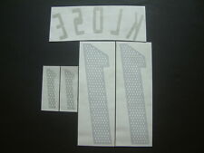 "KLOSE NOME+NUMERO UFFICIALE GERMANIA AWAY OFFICIAL NAMESET ""KOREA-JAPAN 2002"""