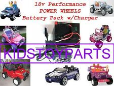 18V Volt Battery for 12v Power Wheels Vehicles w/Charger For Quads Cars & Trucks