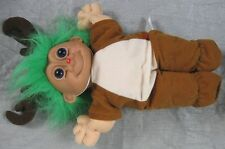 Vintage Russ Green Haired Rudolf The Red Nose Reindeer 14""