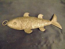 "Flexible fish decoration hand cafted rustic primitive syle 6 1/4"" long fishmen"