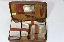 Men's Vintage Travel Toiletry Kit in Leather Case