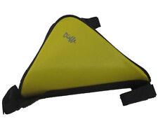 Borsa borsetta a triangolo porta oggetti gialla al telaio per bici bicicletta