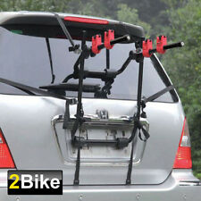 Black 2 Bike Trunk-Mount Hatchback SUV or Cars Wagon Sport Bicycle Carrier Rack