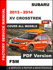 SUBARU 2013 - 2014 XV CROSSTREK ENGINE TRANSMISSION SERVICE REPAIR FSM MANUAL