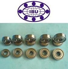 2 Stk IBU Rillenkugellager / Miniaturlager Zoll R4 ZZ = 2Z  6,35x15,875x4,978 mm