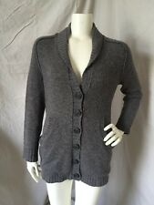 INHABIT Gray Cashmere Alpaca Button Front Cardigan Sweater Sz S