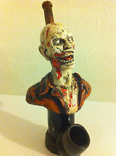 HANDMADE TOBACCO PIPE, Zombie Walker Design.