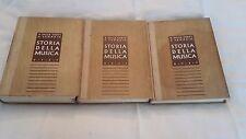 ARTE-STORIA DELLA MUSICA Utet 3 volumi illustrato-ANNO 1942