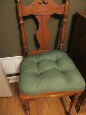 SET OF TWO VINTAGE CHAIR PADS CUSHION PILLOWS Medium Green color Good Condition