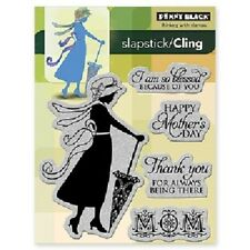 PENNY BLACK RUBBER STAMPS SLAPSTICK CLING SO BLESSED LADY MOM STAMP SET