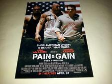 "PAIN & GAIN CAST X2 PP SIGNED 12""X8"" POSTER MARK WAHLBERG AND DWAYNE JOHNSON"